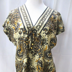 Michael Kors Blouse silk Short Sleeves Empire